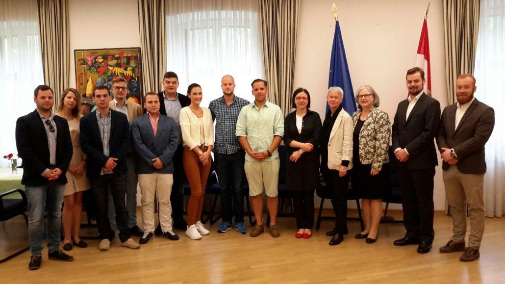 Besuch der österreichischen Botschaft