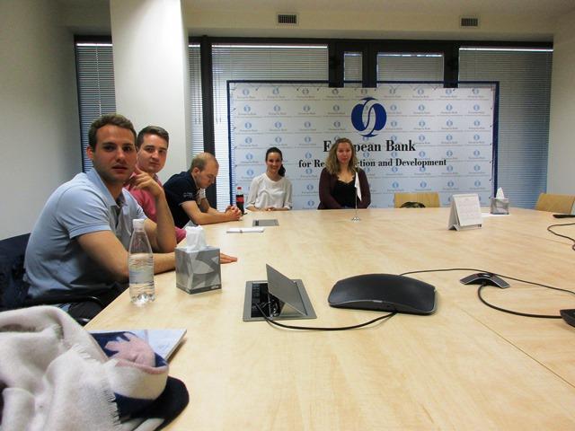 Studierende besuchen EBRD während Exkursion im Wahlpflichtmodul Black Sea Region