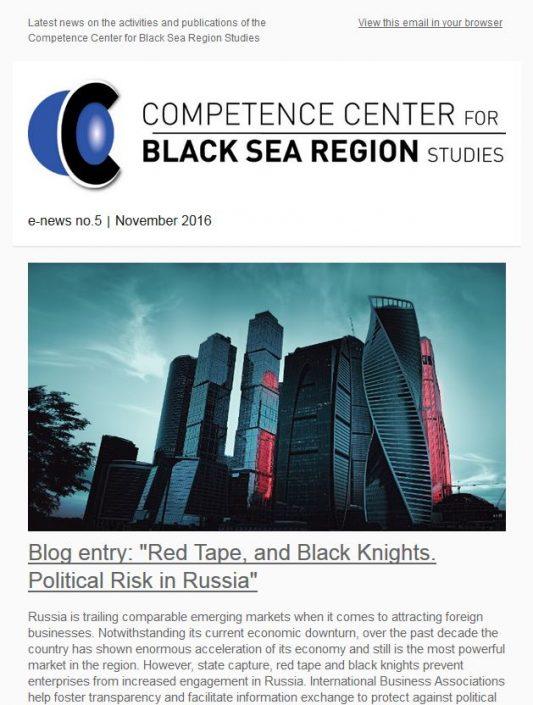 E-News No.5 Competence Center for Black Sea Region Studies