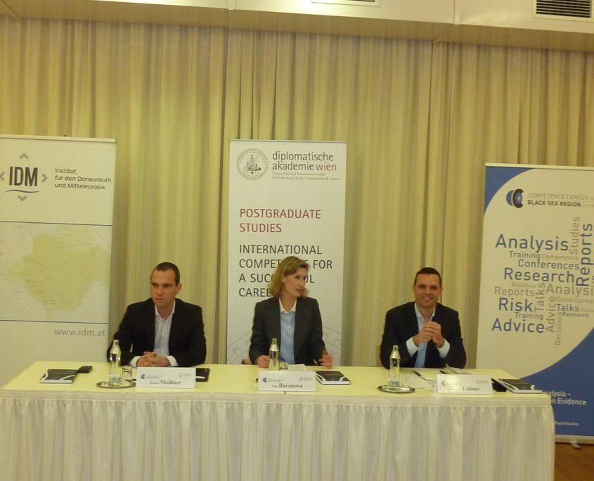 Buchpräsentation State Capture Political Risiks Black Sea Region mit Johannes Leitner und Hannes Meissner an der Diplomatische Akademie