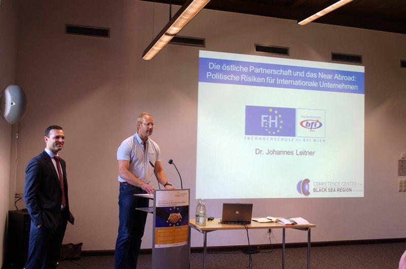 Begrüßung beim Vortrag von Johannes Leitner an der DAAD Sommerschule zur östlichen Partnerschaft