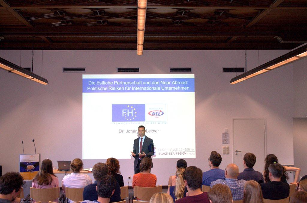 Vortrag von Johannes Leitner an der DAAD Sommerschule zur östlichen Partnerschaft