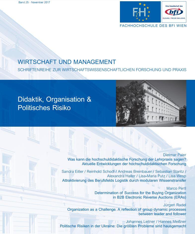 Cover von Wirtschaft&Management, Band 25, November 2017: Didaktik, Organisation und Politisches Risiko