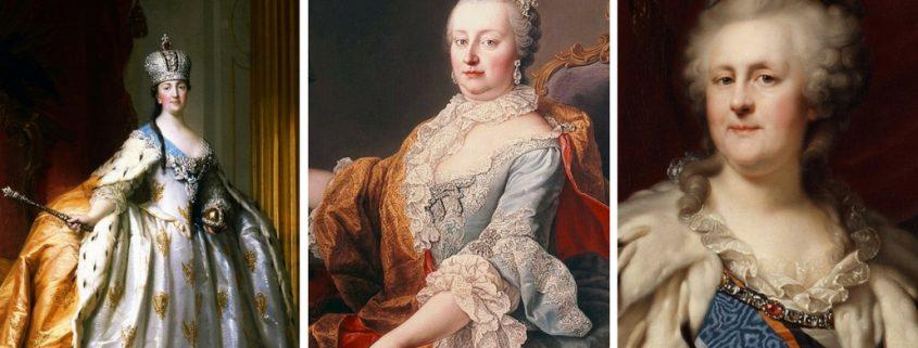 Titelbild: Die politischen Beziehungen zwischen Österreich und Russland: Kaiserin Maria Theresia und die Zarinnen Elisabeth I. und Katharina II: