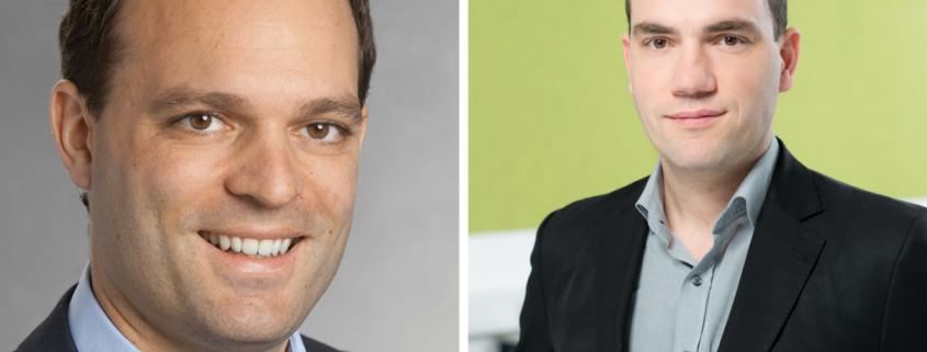 Porträtfoto Johannes Leitner und Hannes Meissner 2 Männer lächeln